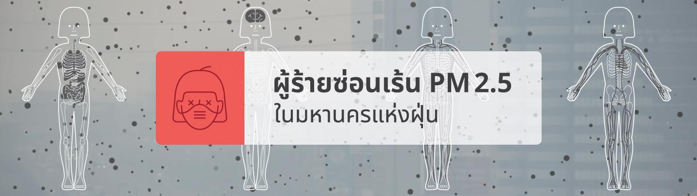 ระเบิดเวลา PM 2.5 ลมหายใจ ที่หายไปกับฝุ่น